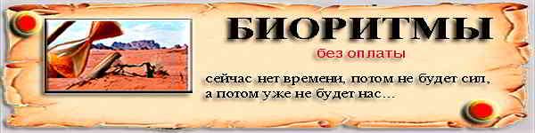Биоритмы дня бесплатно онлайн