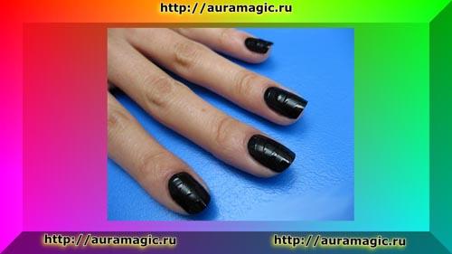 Черный маникюр - цвет магии