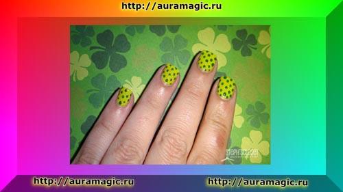 Ярко-зеленый маникюр - приведет к вам друзей