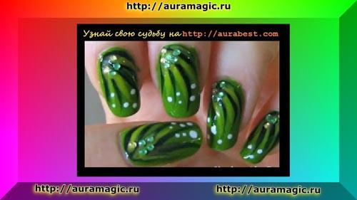 Зеленый цвет маникюра – цвет сердечной чакры Анахаты