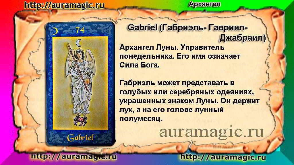 Архангел Gabriel (ГАБРИИЛ, ГАВРИИЛ).